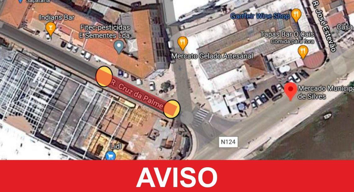 Em Silves: RUA CRUZ DA PALMEIRA SOFRE CONDICIONAMENTO DE TRÂNSITO A 15 E 16 DE SETEMBRO