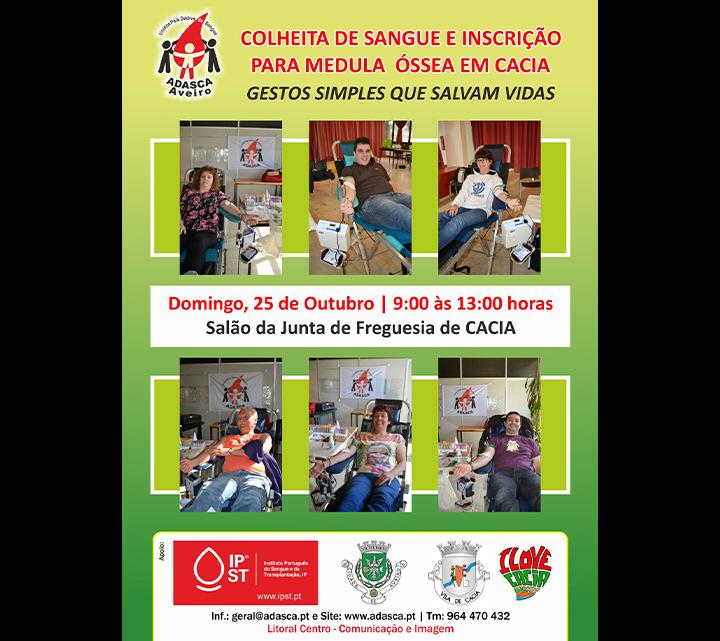 DIA 25 DE OUTUBRO (DOMINGO) │ CACIA (AVEIRO) SALÃO DA JUNTA DAS 9 HORAS ÀS 13 HORAS