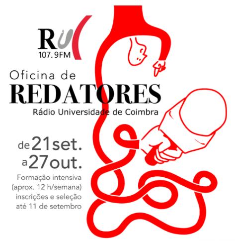 Rádio Universidade de Coimbra procura repórteres