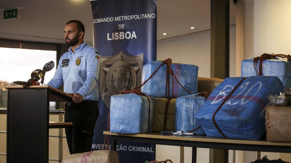 Comando da PSP de Lisboa anuncia maior apreensão de droga da última década