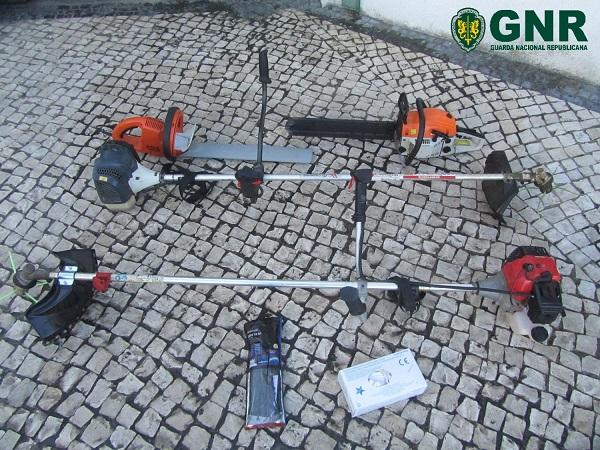 GNR de Vila Nova de Poiares recupera objetos de dois furtos