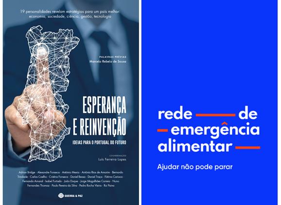 Autores de Esperança e Reinvenção entregam donativo à Rede de Emergência Alimentar