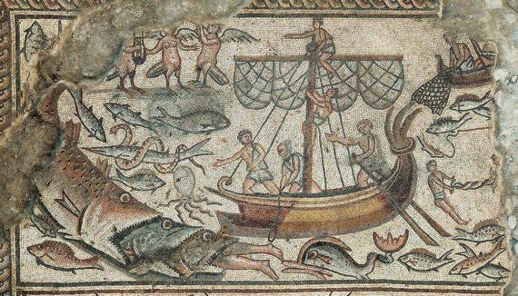 Imagens bíblicas em mosaico de antiquíssima sinagoga