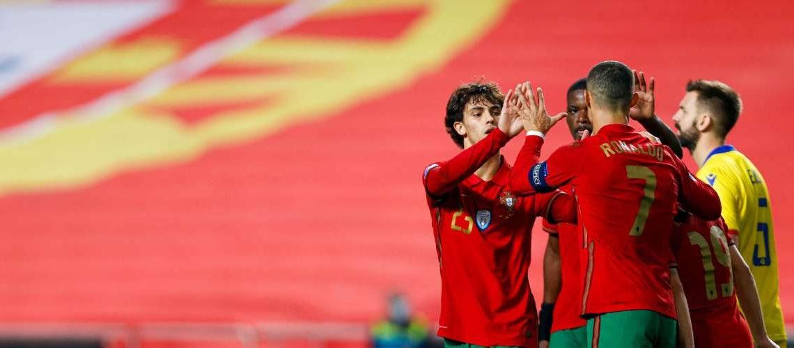Ronaldo, Bernardo e Félix no ataque de Portugal, Mbappé ausente na França
