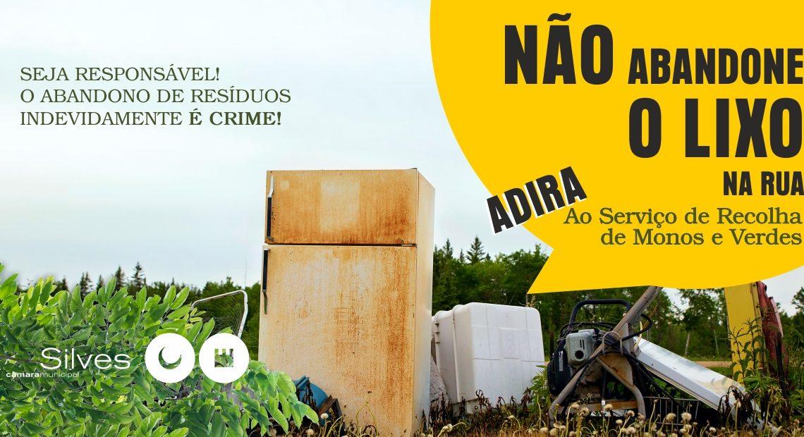 """""""LIXO ZERO 0 – AMBIENTE 100"""" – SERVIÇO DE RECOLHA DE MONOS E RESÍDUOS VERDES"""
