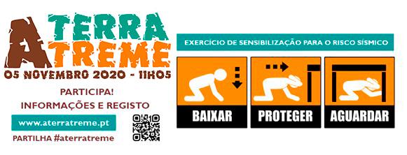 """EXERCÍCIO """"A TERRA TREME"""": Ação de preparação para o risco sísmico na Escola Básica e Secundária António Bento Franco, do Agrupamento de Escolas da Ericeira (Mafra) – dia 05 de novembro"""