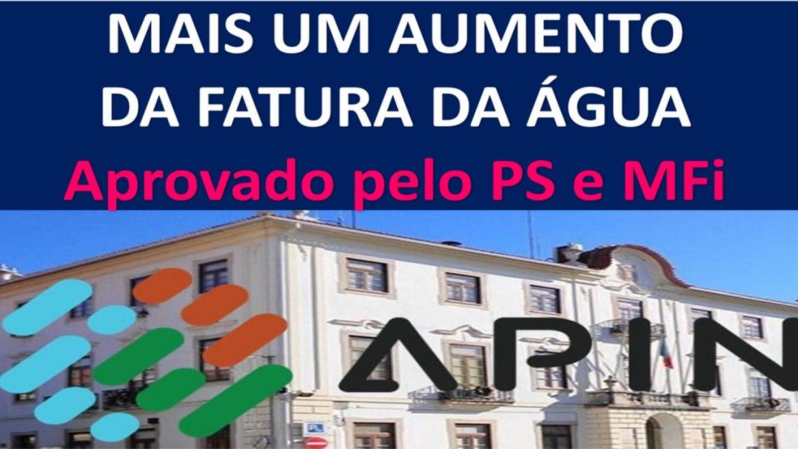 Figueiró dos Vinhos | Mais um aumento na fatura da água da APIN aprovado pelo PS e seu aliado MFi. PSD votou contra.