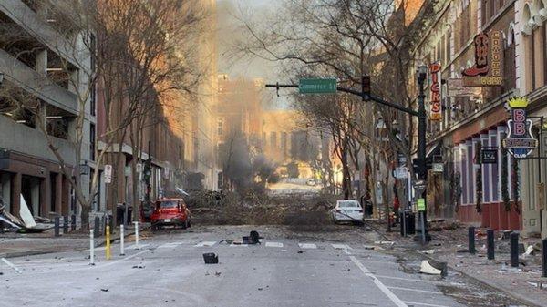 Explosão em Nashville teve aviso prévio e causou três feridos