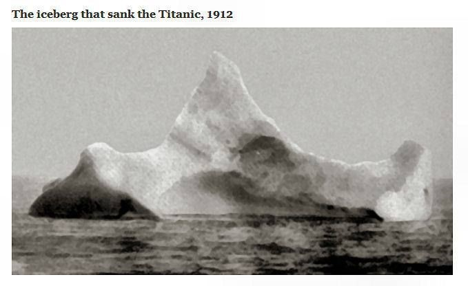 The Titanic did NOT hit an iceberg. Nor were the lookouts the first to spot the floating ice mountain.