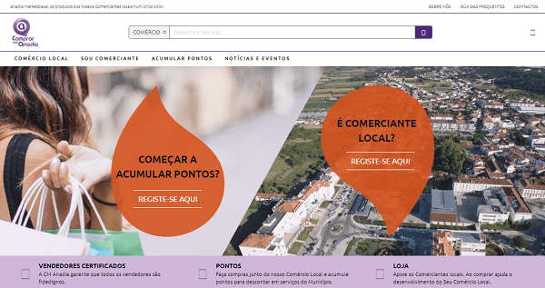 Anadia cria site e cartão para apoiar o comércio local