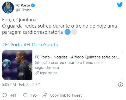 Guarda-redes de andebol do FC Porto sofre paragem cardiorrespiratória