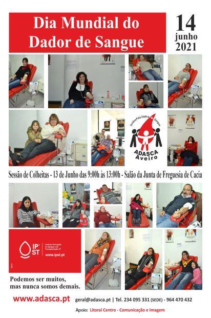 Colheita de Sangue Dia 13 de Junho no Salão da Junta de Freguesia de Cacia