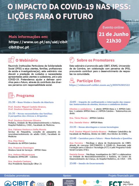 Coimbra   Especialistas analisam o impacto da COVID-19 nas IPSS
