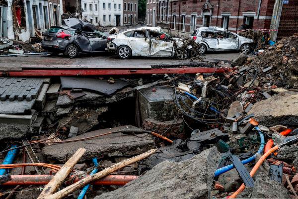 Bélgica sofre novos danos após tempestades violentas