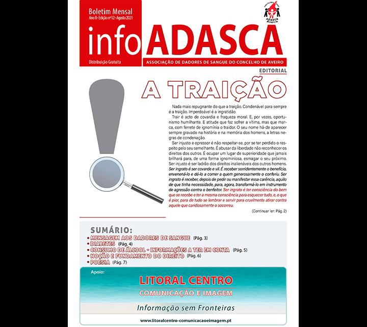 Boletim InfoADASCA, Edição nº. 12, Agosto de 2021