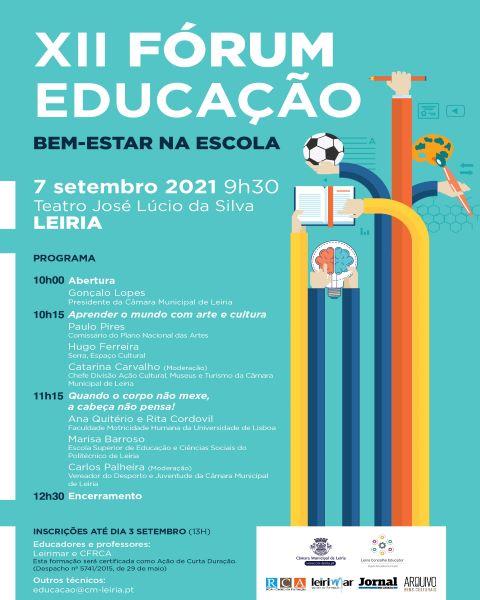 Leiria   Abertas inscrições para XII Fórum da Educação