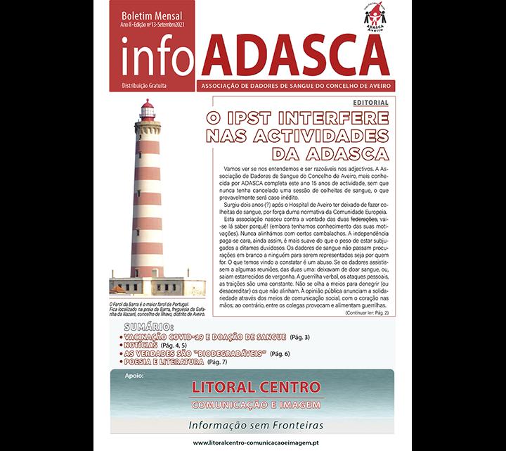 Boletim InfoADASCA, Edição nº. 13 de Setembro 2021
