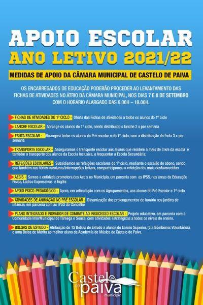 ENTREGA DE FICHAS DE ACTIVIDADES AOS ALUNOS DO 1º CICLO DE CASTELO DE PAIVA