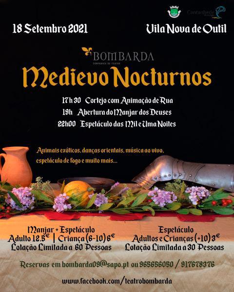 No próximo sábado, 18 de setembro Bombarda organiza espetáculo medieval em Vila Nova de Outil