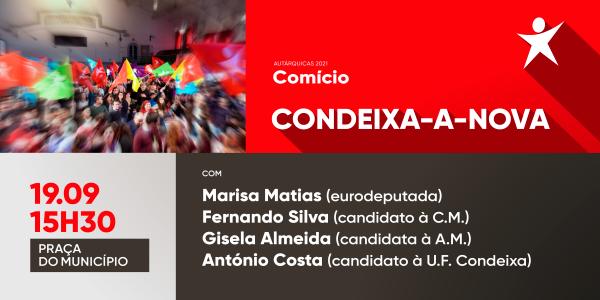 19 SET: Marisa Matias em Condeixa – 15h30