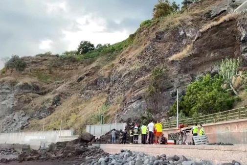 Funchal | Derrocada de grandes dimensões na Praia Formosa não fez vítimas