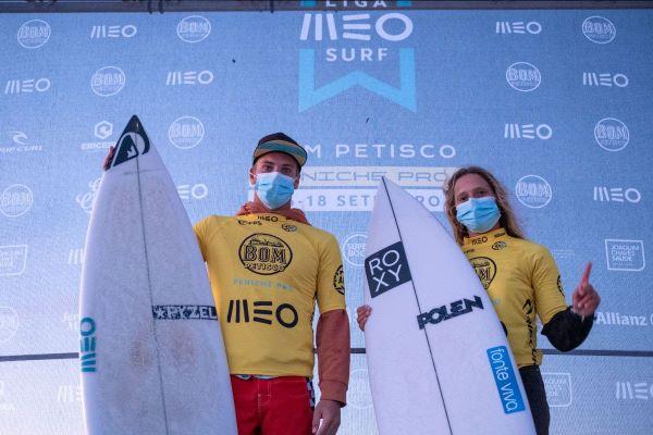 Liga MEO Surf – Kika Veselko e Afonso Antunes conquistam o Bom Petisco Peniche Pro em Supertubos