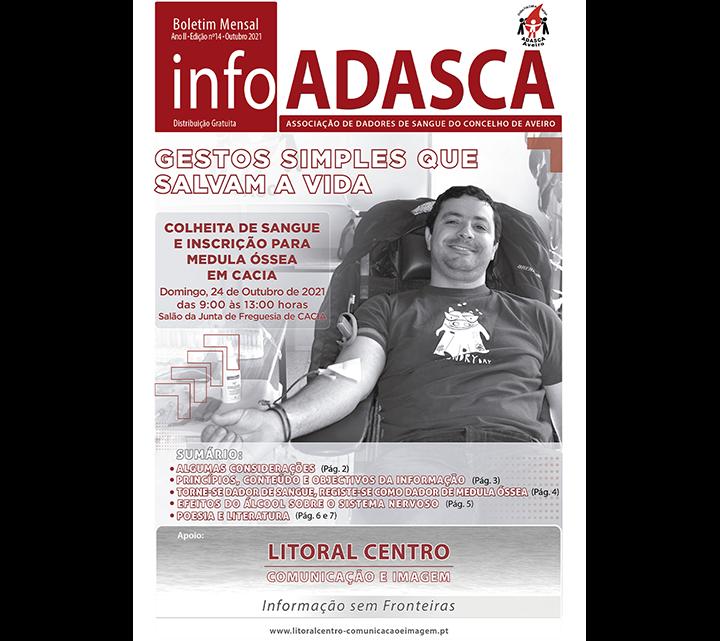 Boletim InfoADASCA, Edição nº. 14 alusivo ao mês de Outubro 2021