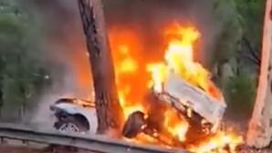Despiste seguido de incêndio faz três mortos no Montijo