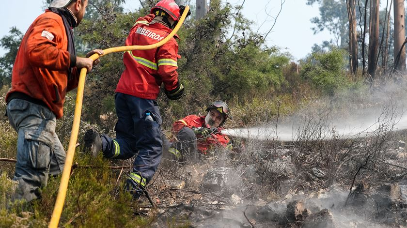 Mais de 400 bombeiros e 11 meios aéreos combatem fogo em Tomar