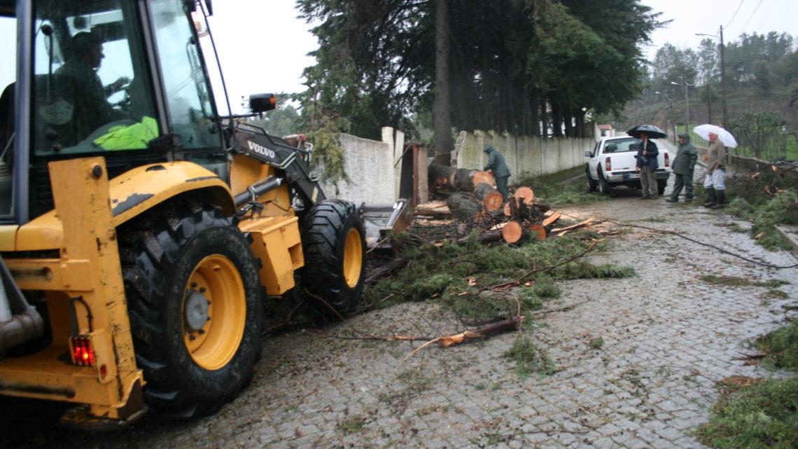 Mau tempo provoca corte da estrada que liga a Bairrada ao concelho de Mação