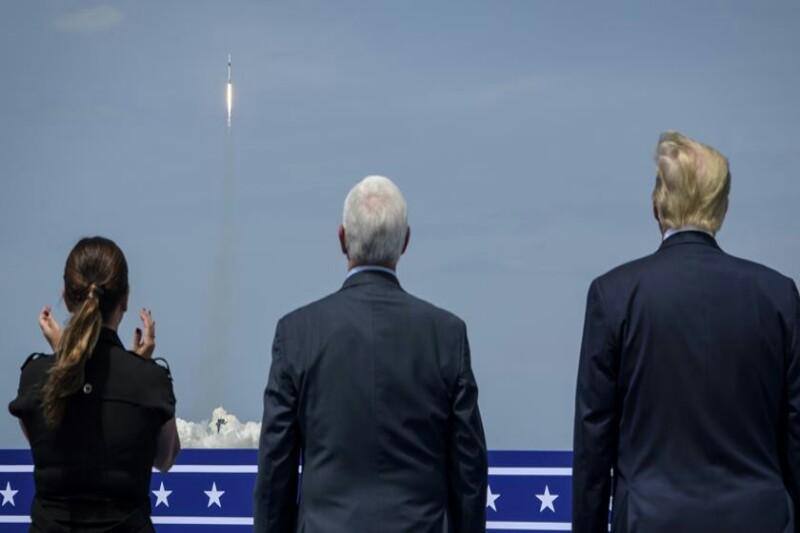 Foguetão da SpaceX foi lançado, na presença do Presidente dos Estados Unidos