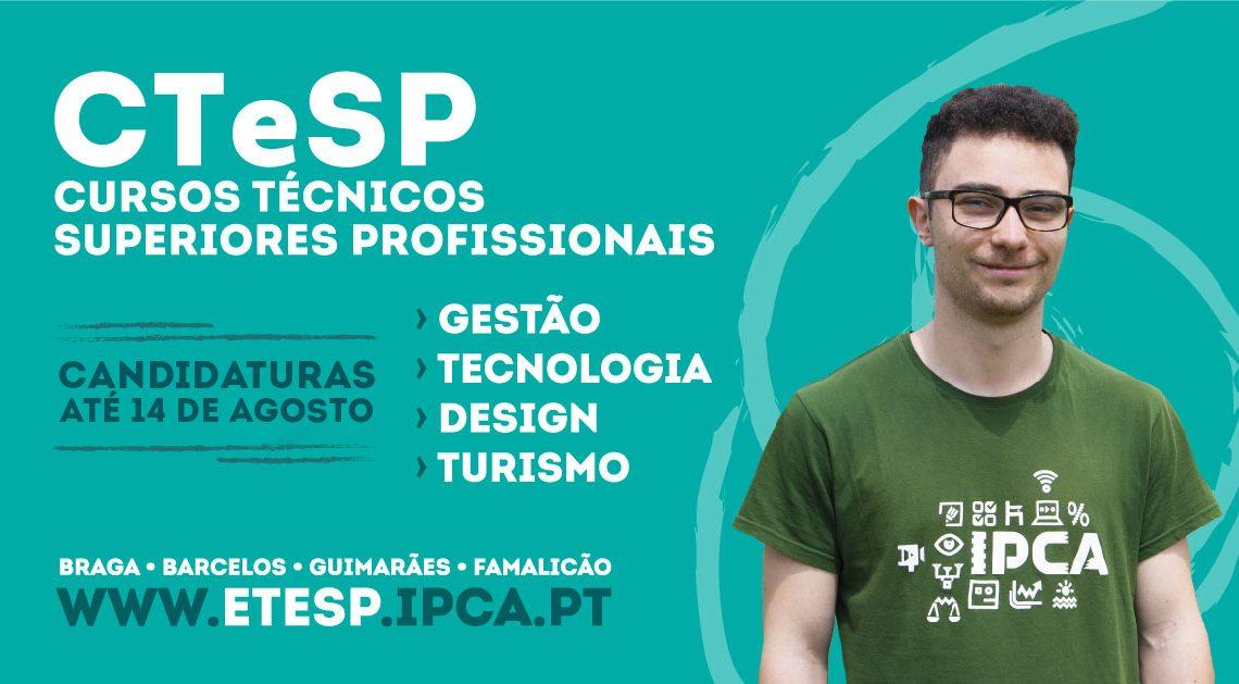 Candidaturas abertas para Cursos Técnicos Superiores Profissionais do IPCA
