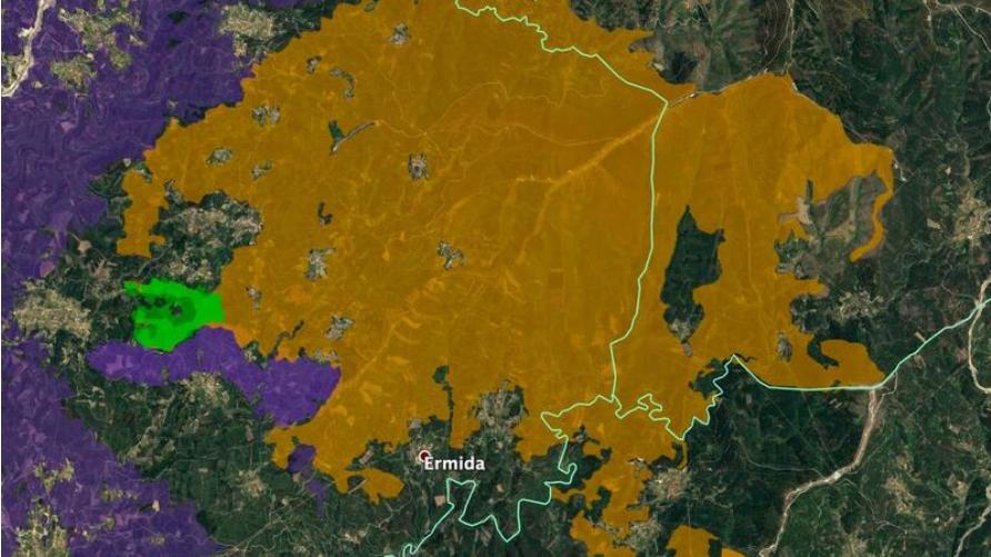 Incêndio de Oleiros foi travado por áreas queimadas nos fogos de 2017