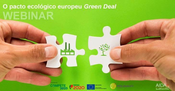 Webinar O pacto ecológico europeu Green Deal 29 Set   14h30   Zoom   registo obrigatório