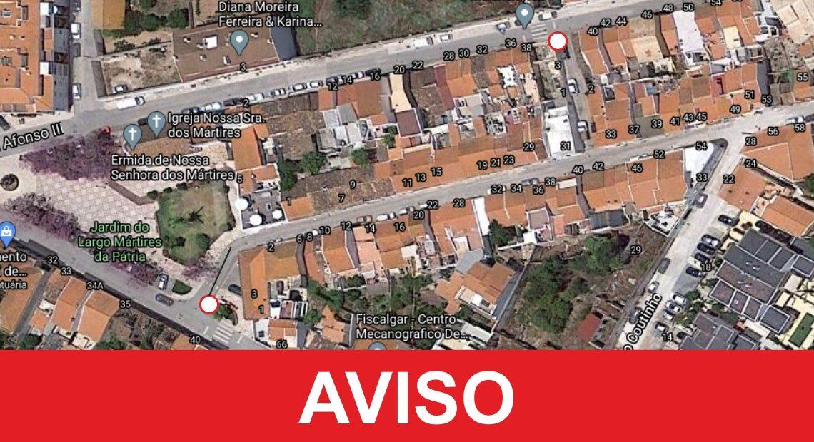 Em Silves: RUA D. PAIO PERES CORREIA SOFRERÁ CORTE DE TRÂNSITO A 21 E 22 DE JANEIRO