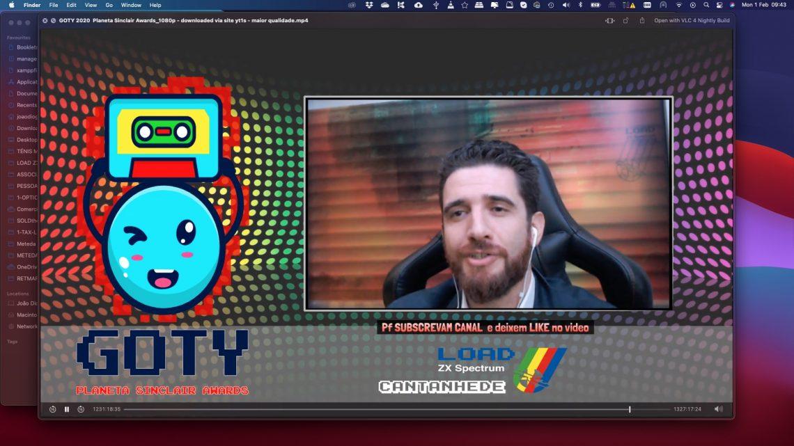 De Cantanhede para o mundo virtual Load ZX Spectrum na Gala Goty