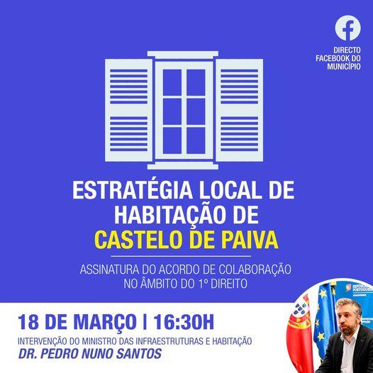 Castelo de Paiva   APRESENTADA HOJE ESTRATÉGIA LOCAL DE HABITAÇÃO