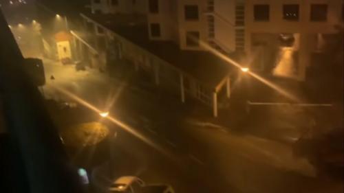 Apagão na Madeira. Chuva inunda ruas e estradas no Funchal