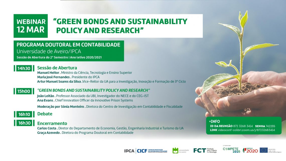 """Green Bonds and Sustainability Policy and Research"" é tema de debate no IPCA"