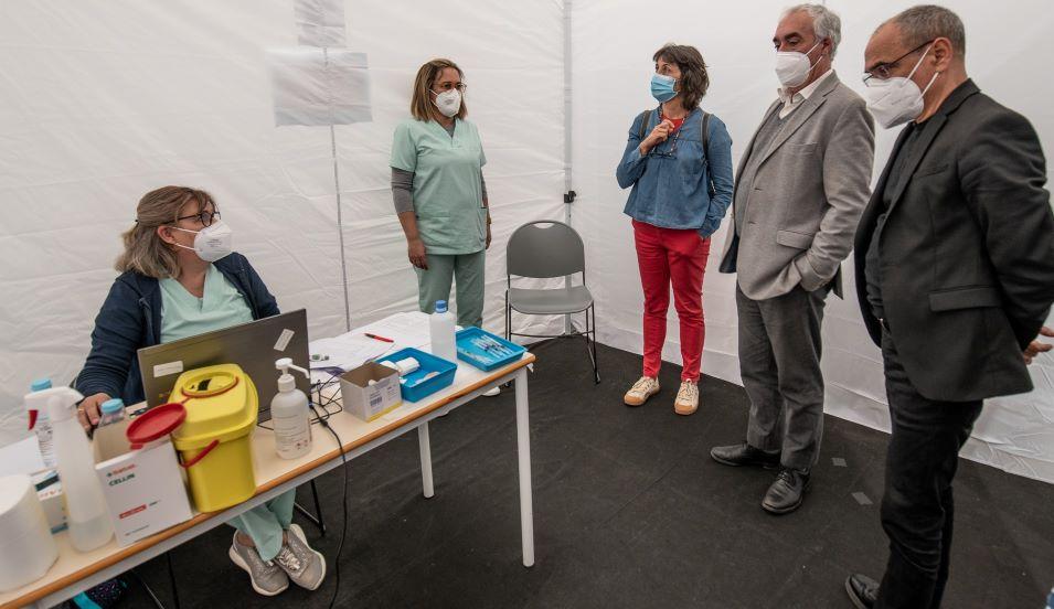 Centro de Vacinação COVID19 na Arena de Évora administra 600 vacinas por dia