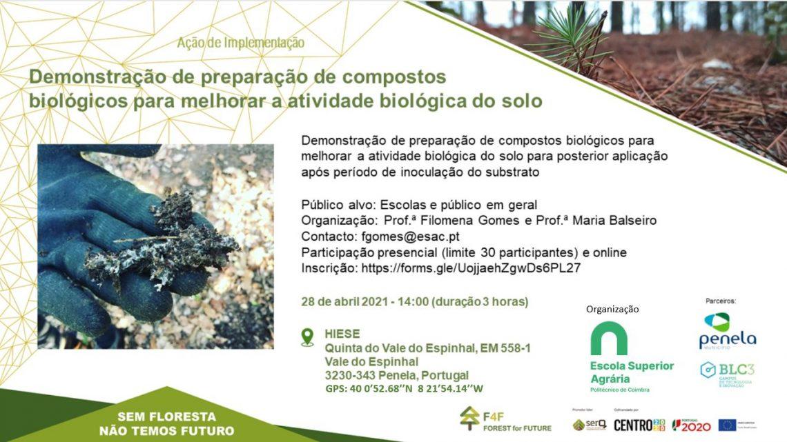Ação de demonstração de compostos biológicos para melhorar a atividade biológica do solo