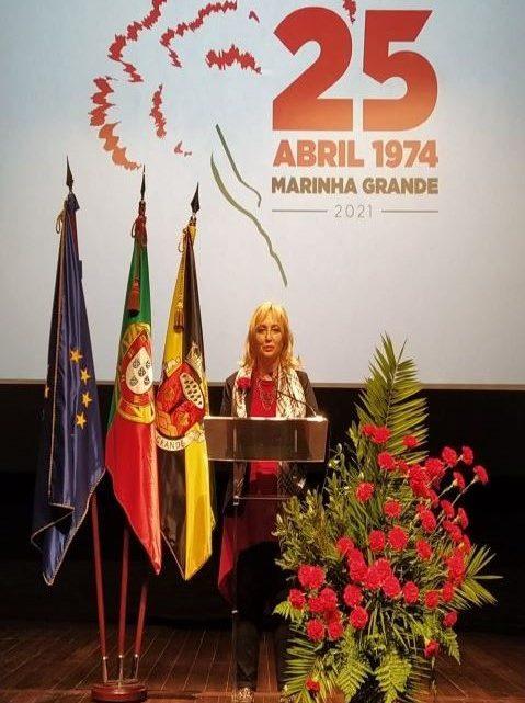 Discurso da Presidente da Câmara Municipal da Marinha Grande na sessão comemorativa do 25 de Abril da Assembleia Municipal