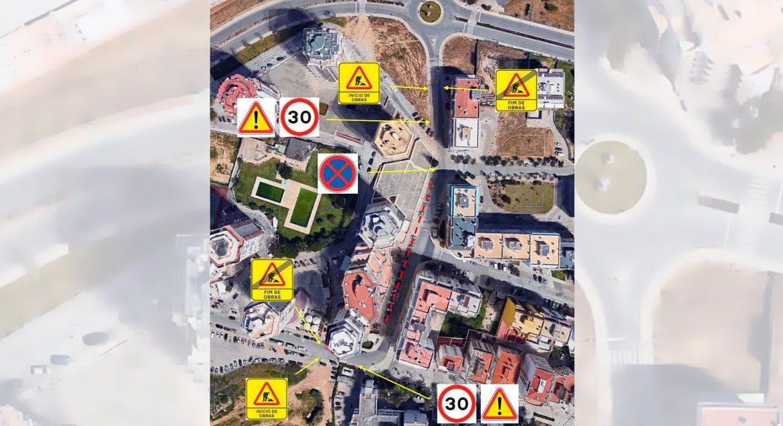 Requalificação dos arruamentos e infraestruturas obrigam a plano de sinalização temporário na urbanização Torres do Alto da Torre