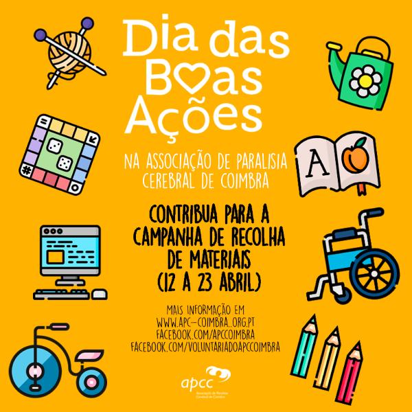 Coimbra   Voluntários da APCC juntam-se para Dia das Boas Ações e promovem recolha de materiais para a instituição