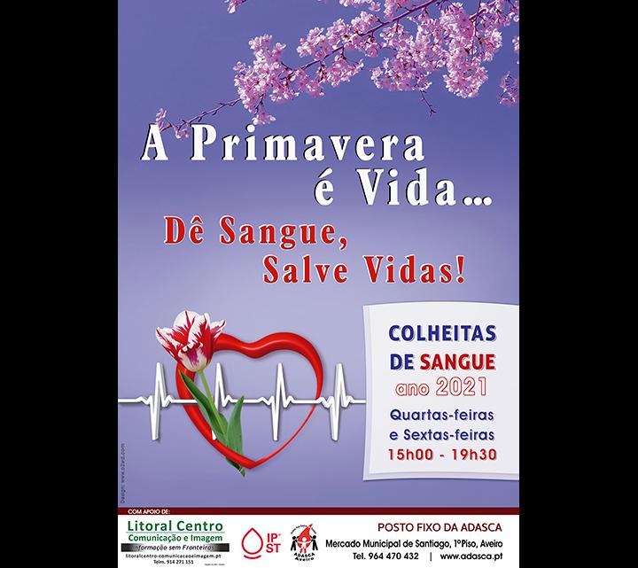 ADASCA promove Campanha: A Primavera é Vida… Dê Sangue, Salve Vidas!