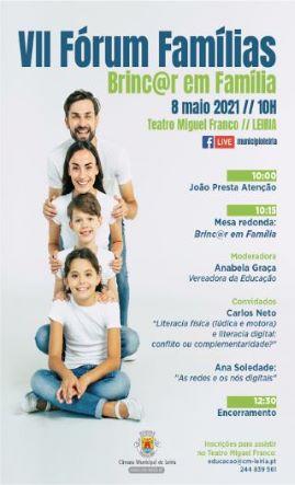 Leiria | VII Fórum Famílias apresenta Brinc@r em Família