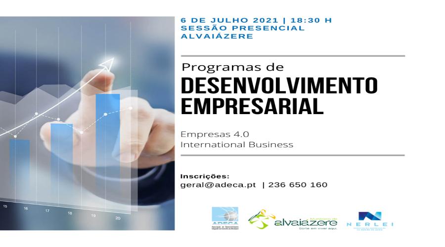 Alvaiázere   Sessão Programas de Desenvolvimento Empresarial