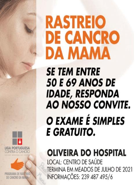 Rastreio de Cancro da Mama em Oliveira do Hospital