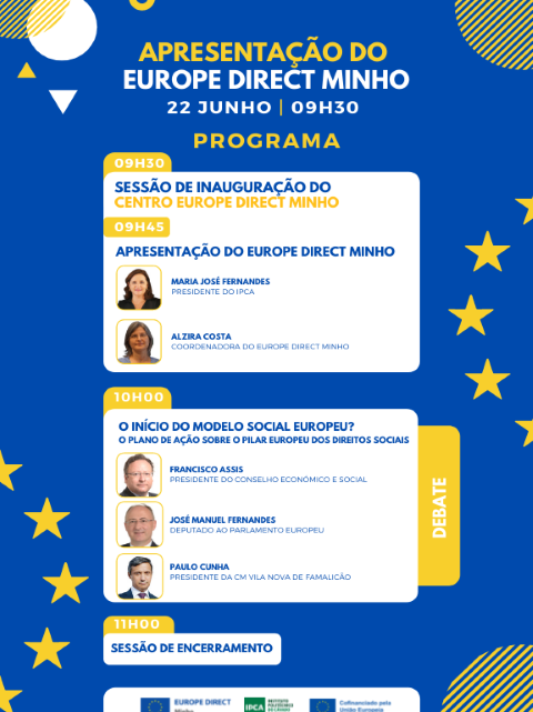 Barcelos   Francisco Assis no IPCA para falar do Modelo Social Europeu na inauguração do Europe Direct Minho