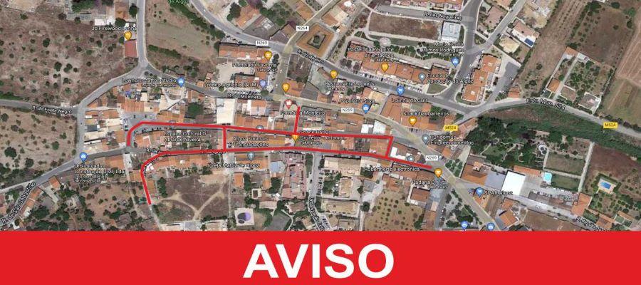 Baixa do Algoz sofre condicionamento de circulação de trânsito a partir do dia 12 de julho
